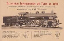 8164) TRENI ESPOSIZIONE TORINO 1911 LOCOMOTIVA A 4 CILINDRI J. A. MAFFEI, MONACO