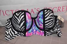 NWT Victorias Secret Pink Strapless Bustier Bikini Swim Top Zebra XS $49.50