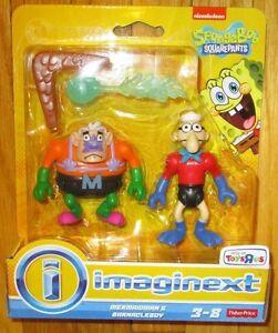 Imaginext SPONGEBOB MERMAIDMAN & BARNACLEBOY FIGURE 2-pack TOYS R US EXCLUSIVE