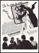 Publicité KODASCOPE  camera projecteur cinema film  ad  1932 - 11h