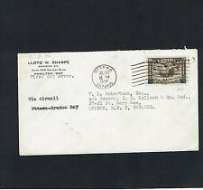 Canada: 1932, Ottowa Conference overprint, airmail first day cover