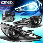 For 2011-2014 Sonata Projector Black Clear Side Headlight Wled Kit Slim Style