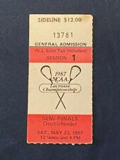 1987 Ticket Stub NCAA Lacrosse Championship Semi-Finals