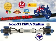 Jebao 75W Stainless Steel UV Sterilizer Clarifier - 35% more UV Efficiency!