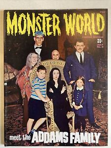Monster World Magazine #9 July 1966, The Addams Family Issue FN/VF