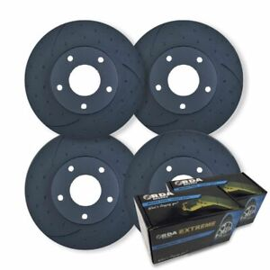 FULL SET DIMPL SLOTT DISC BRAKE ROTORS+PADS for Holden Caprice WM VN V8 2005-17