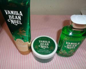 3 bath & body works vanilla bean noel body wash body Cream & shower gel