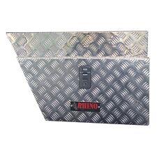 Rhino 705 x 255 x 435mm Left Undertray Checkerplate Tool Box