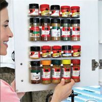 4 Layers Spice Rack Organizer Wall Cabinet Door Hanging Spice Jars Clip Hook Set