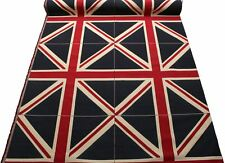 Large Colour Woven Union Jack Flag Heavy Linen LOOK Cotton Upholstery Cushion 70