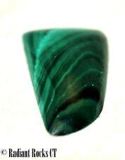 Congo Malachite Freeform Cabochon 17.5 carats great patterns