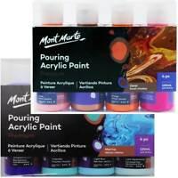 4 x 120ml Pouring Paint Kit MONT MARTE Premium Acrylic Paint Set Arts Supply