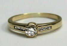Ring 585 Gold Brillant und Diamanten ca. 0,31ct Größe 58 - 19548 –