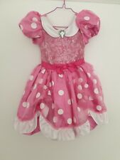 Girls Minnie Mouse Pink Costume Dress. Disney. Size 4 Aged 3years Fits Up To...