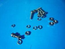 M2 x 6 Presa Tappo Bulloni a testa in acciaio inox a2 Confezione da 10 + Dadi & Rondelle Elastiche
