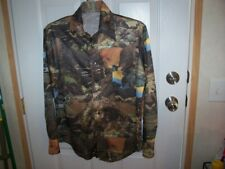 Vintage Men's Hand Made Polyester Shirt Size Med to Lg.Long Sleeves