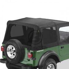 Jeep Wrangler YJ Set Set Disco colorato per Orginali Cappotta Black Denim Bestop