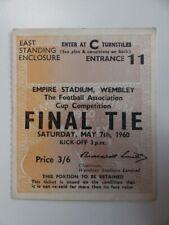 More details for blackburn rovers v wolverhampton wanderers   fa cup final stub   1959/1960