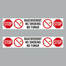 2 Sticker 20cm Sticker Stop Smoking No. Smoking Fumar Notice 4061963068625
