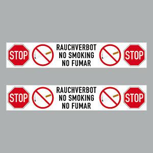 2 Aufkleber 20cm Sticker Stop Rauchverbot No Smoking Fumar Hinweis 4061963068625