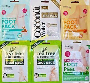 Derma V10 Foot Peel Sock Mask Baby Soft Feet Removes Dead Skin ( FREE DELIVERY )