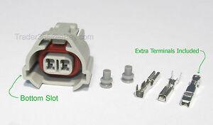 Nippon Denso Bottom Slot Fuel Injector Connector kit for Toyota Subaru Mazda