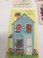 1960s Vintage Lot of 7 Greeting Cards Get Well Religious with Sparkle Unused NOS
