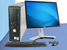 """Cheap Core 2 Duo Dell Desktop Computer PC,DVD, 80Gb Office & 17"""" Monitor Package"""