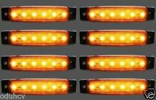8 PCS 12V LED AMBER ORANGE SIDE MARKER LIGHT INDICATOR LAMP TRAILER TRUCK LORRY