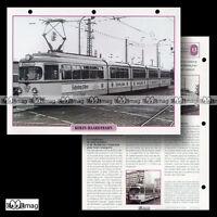 #122.12 Fiche Train 1913 TRAMWAY RHEIN-HAARDTBAHN RHB / TRAMCAR STREETCAR
