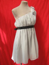 Pale grey Gray Chiffon Floaty flower Dress Tunic top- 12 BNWT Bridesmaid Wedding