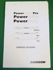 Original Samson PowerBrite Pro Owner's Manual - PB PRO7; PB9; PS9
