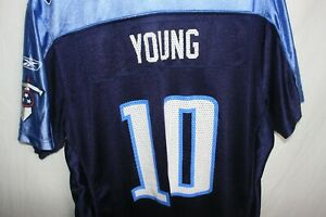 ON-FIELD Vintage NFL Vince Young Tennessee Titans Football Jersey XL WMNS