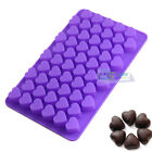 Silicone 55 Heart Cake Chocolate Cookies Baking Mold Ice Cube Tray Soap Mould
