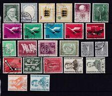Gestempelte Briefmarken aus der BRD (1955-1959) als Posten & Lots