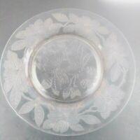 Vintage Set Of 2 Pink Depression Glass Dessert Plates
