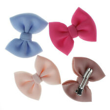 2Pcs/Set For Kids Hair Clip Solid Color Bow Barrettes Baby Girls Hairpins Supply