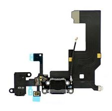 iPhone 5 New Black Complete Dock Connector Charging Port Cable Circuit Plug Part