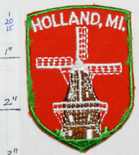 MICHIGAN, HOLLAND WINDMILL VINTAGE SOUVENIR TRAVEL PATCH