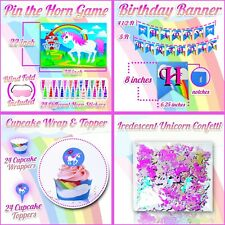 Unicorn Party Supplies Birthday Bundle For Girls Decorations & Cupcake Wrappers