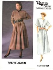 Vogue American Sewing Pattern Women's Dress 1821 Ralph Lauren Sz 6-8-10 UNCUT