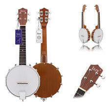 1 Piece Fashion Alloy Wood IRIN Four-string Sapelli Banjo Professional Banjolele