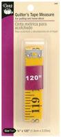 "Dritz Quilter's Tape Measure Non-stretch Fiberglass 3/4"" x 120"" 1.9cm x 3.04m"