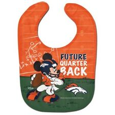 Denver Broncos Baby Bib Disney Mickey Mouse Feeding Infant NFL Football Fan