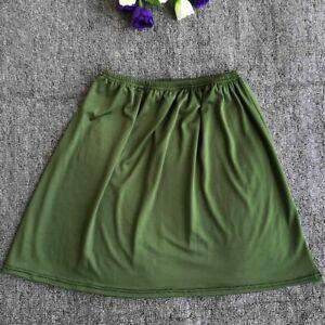 Lady Half Slip Skirt Underskirt Petticoat A-Line Short 40cm Elastic Waist Casual