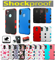 For Samsung Galaxy A11 HYBRID Armor Rubber TPU Rugged Case Shockproof Cover