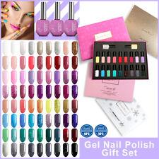Lavender Violets 18 Colors Soak-off Uv Gel Nail Polish Kit with Base Top Gel