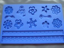 Silicone Mould Fondant/ Sugar Paste/ Flower Floral Pattern Embossing/Craft Mat