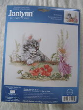 FURRY FAIRY FRIENDS Cat by Joy Scherger - Janlynn Counted Cross Stitch Kit NEW
