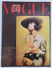 Vintage March 1964 Vogue Fashion Magazine, John Lennon, Chanel, Clothes, Make Up